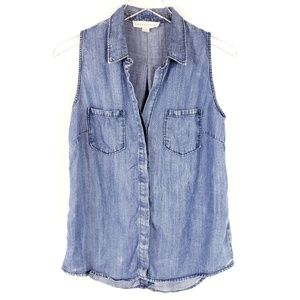 Lovestitch Tencel Chambray Sleeveless button up S